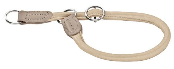 Collier en cuir d'élan , avec anneau stop Hunter Round & Soft Elk