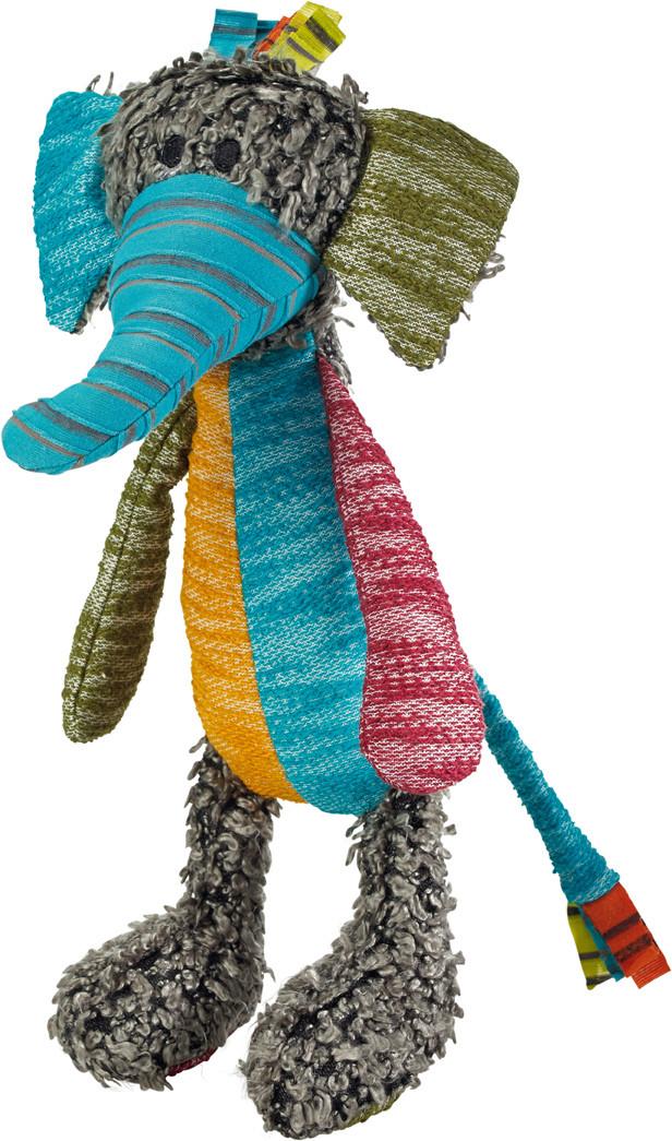 Jouet en tissu patchwork Hobbs Hunter, pour chien, éléphant