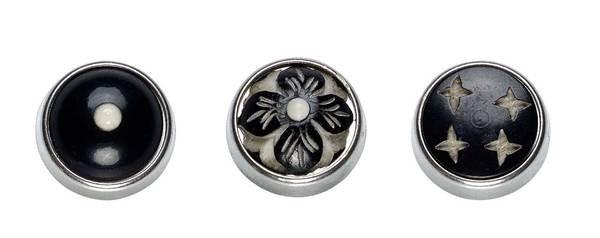 set de bouton pression décor pour collier Yuma