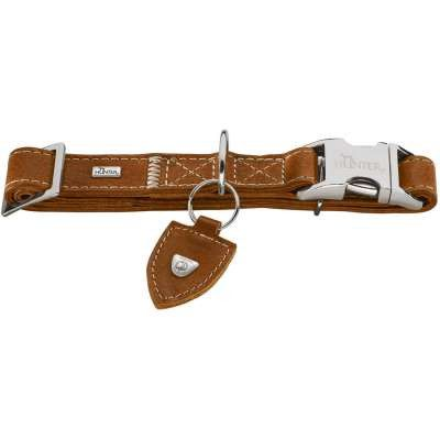 collier cuir de luxe hunter tara alu-strong pour chien