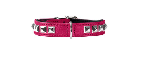 collier cuir rose pour petit chien, Hunter Rocky Petit