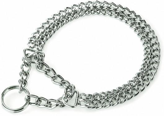 Collier chainette 2 rangs chromé Animilo