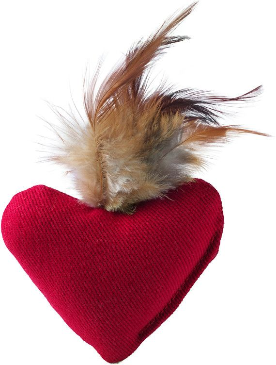 Jouet peluche chaton ou chat , coeur Hunter smart feather