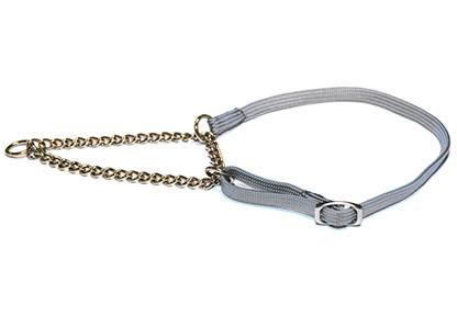 Collier nylon chainette pour les expos-GRIS