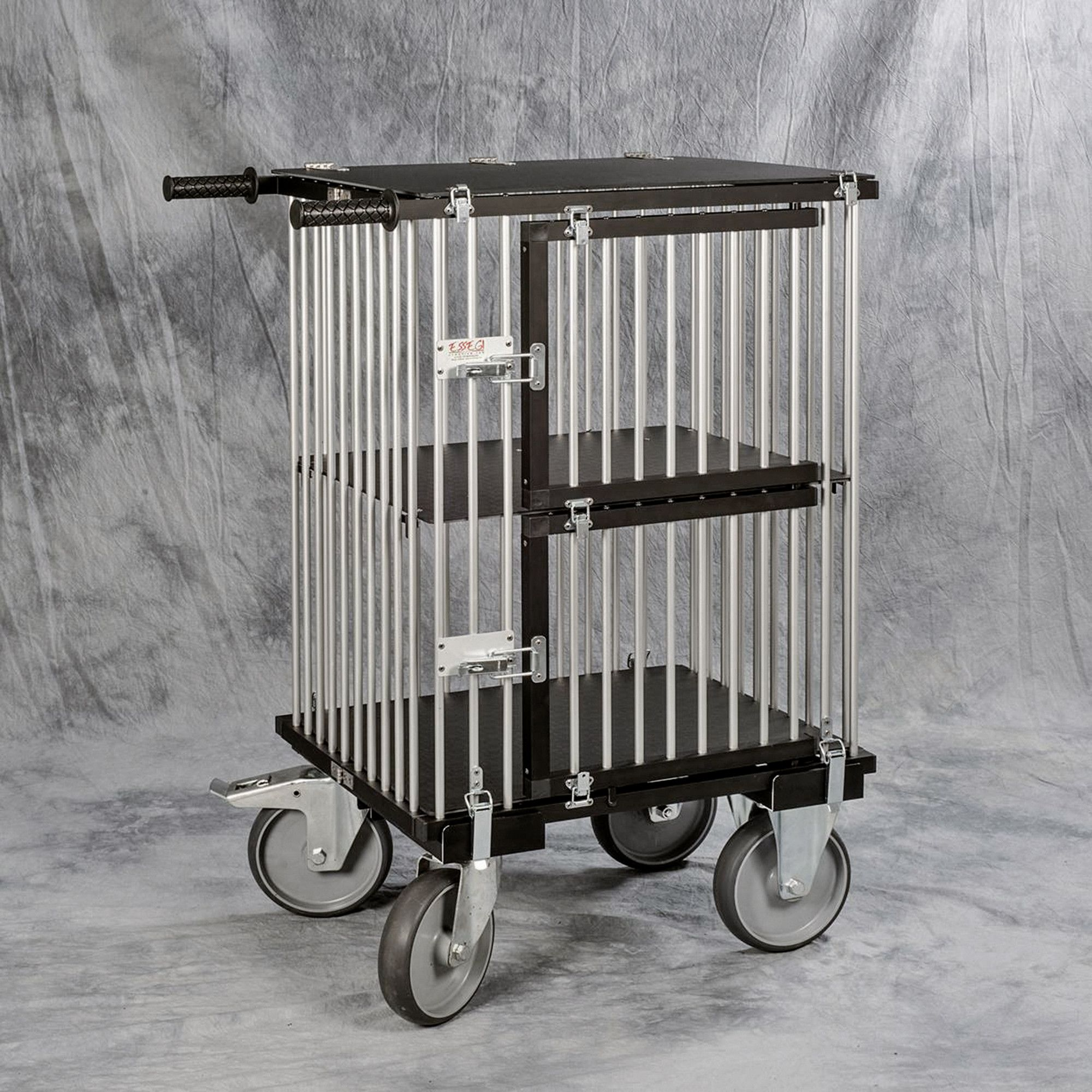 chariot 2 cages alu pour expo