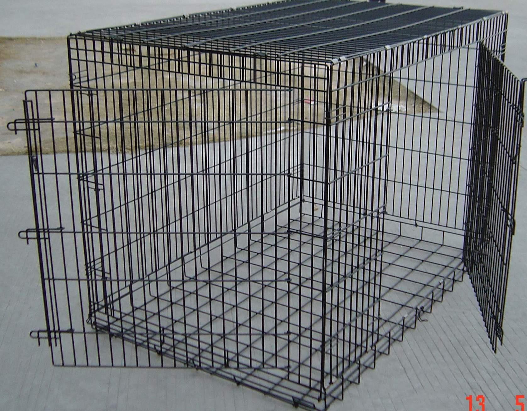 cage pliable métal noir XXL pour chien