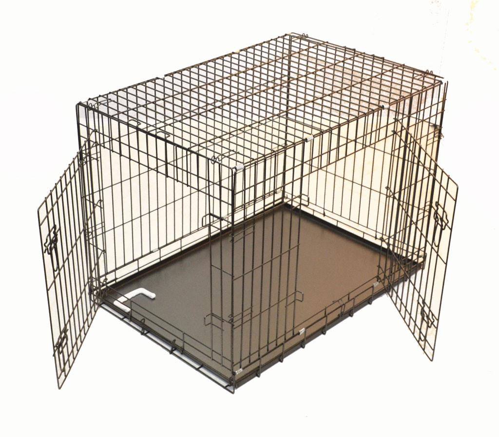 Cage pliable metal chien costaud extra lourde
