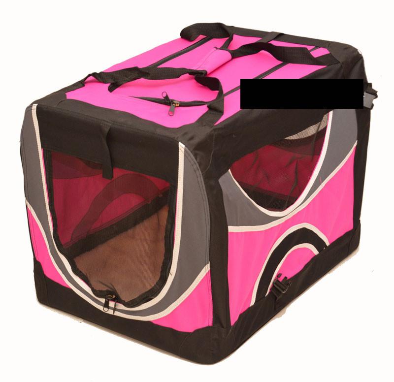 cage pliable nylon rose pour chien Animilo