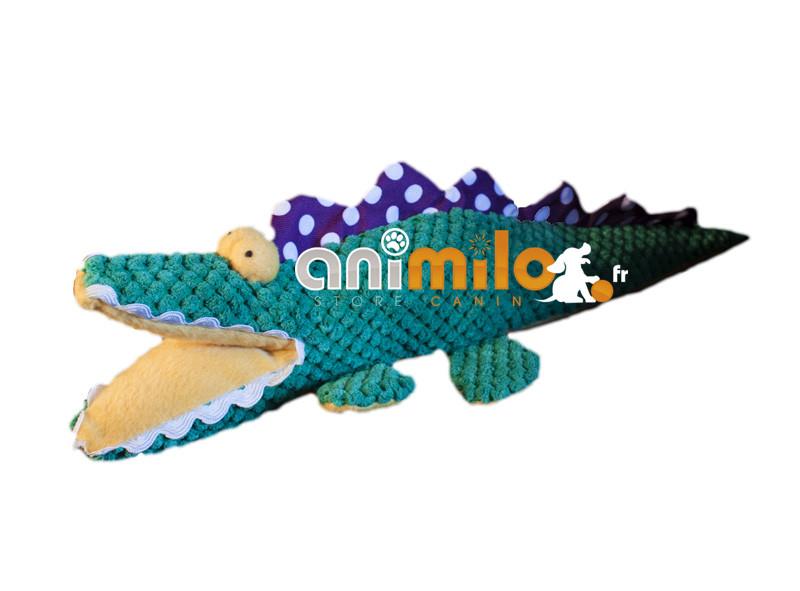 jouet tissu, crocodile pour chien