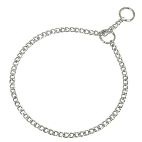 collier étrangleur chainette chromé pour chien