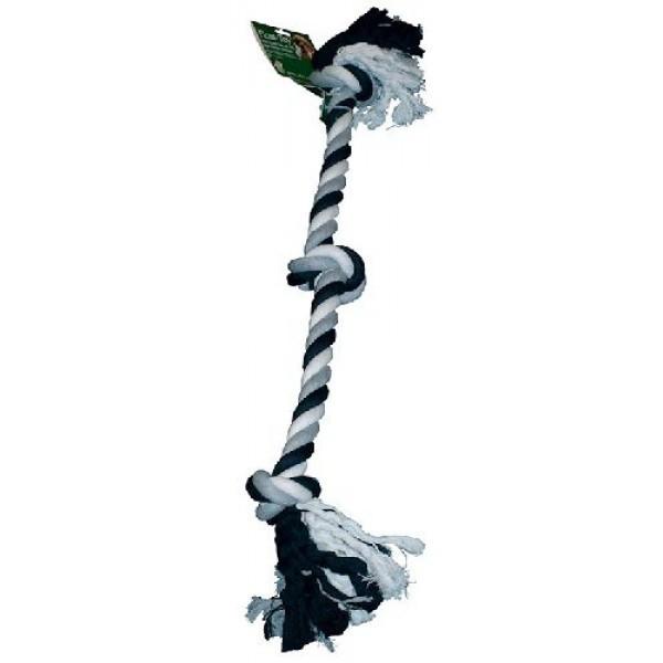 Corde pour chien noir gris blanc