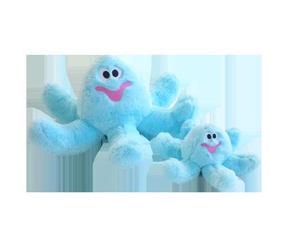 jouet Hugs Octopus bleu pour chien