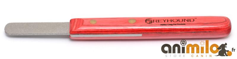 trimmer Greyhound® Original Rock Stone Red Wood, couteau à épiler, chien