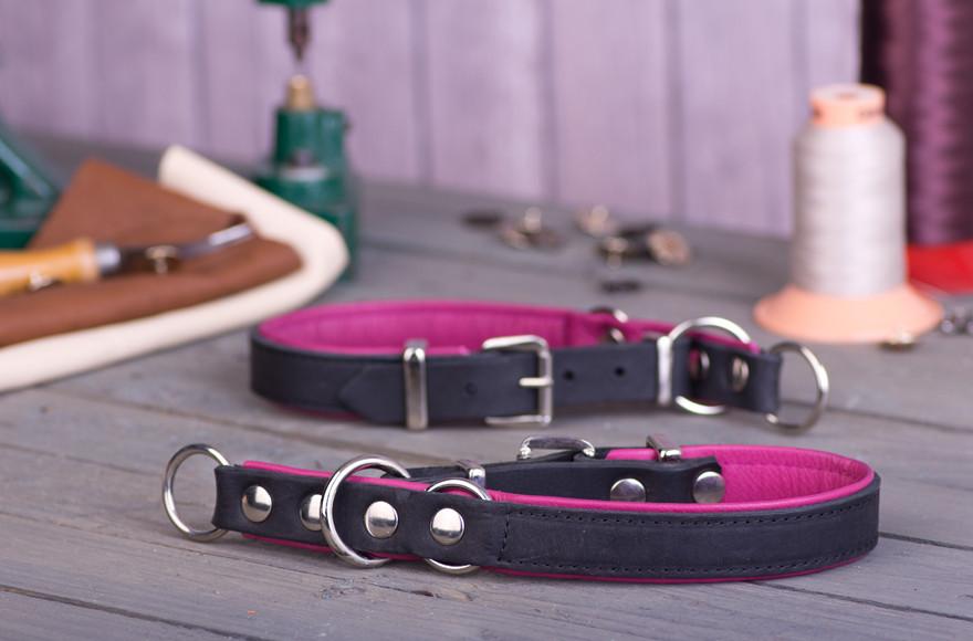 collier d'éducation cuir artisanal Premium