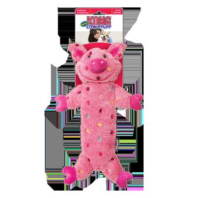jouet singe kong low stuff speckles pour chien