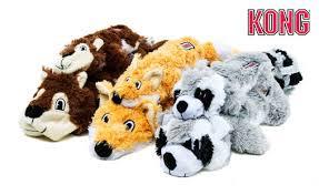 Jouets peluche Kong Scrunch Knots fox
