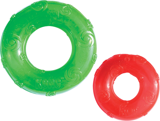 jouet kong squeezz ring pour chien