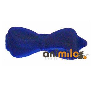 barrette noeud bleu foncé