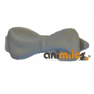 barrette noeud gris clair