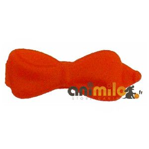 barrette noeud orange