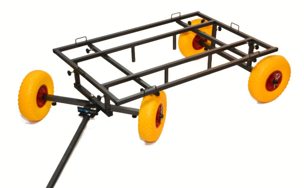 chariot trolley extensible roues jaunes