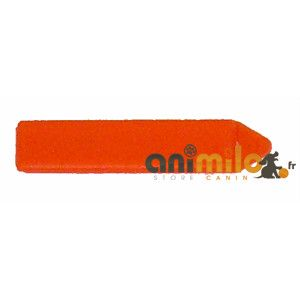 barrette rectangulaire orange
