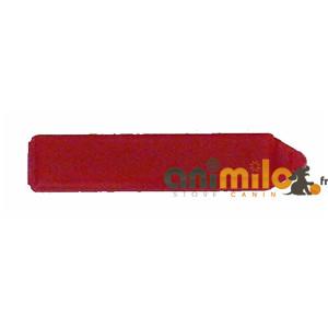 barrette rectangulaire rouge foncé