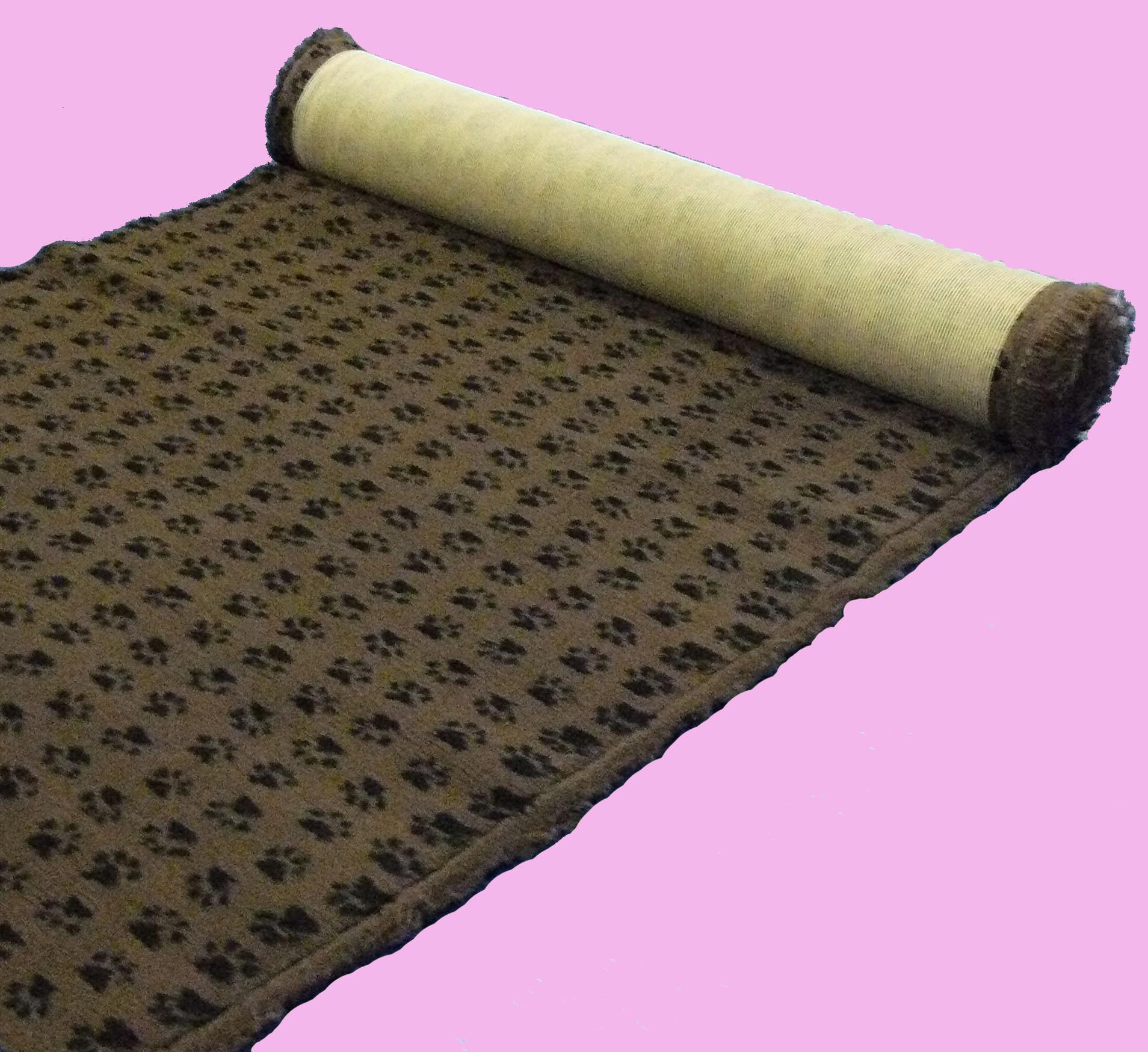 Tapis Confortbed-dry anti-dérapant marron à pattes noires, épaisseur 26 mm,longueur selon commande