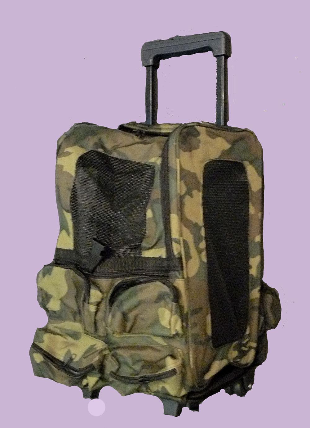 caddy trolley sac à dos pour transport petit chien