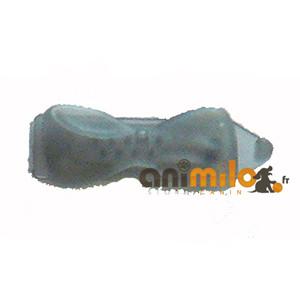 barrette noeud anthracite transparent