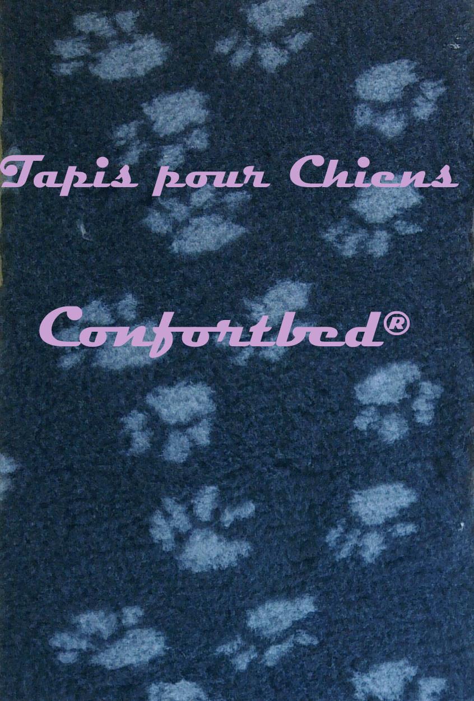 Tapis Confortbed Dry anthracite avec des pattes grises, 75x100 cm, 26 mm