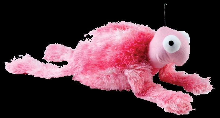 peluche tortue géante rose pour chien