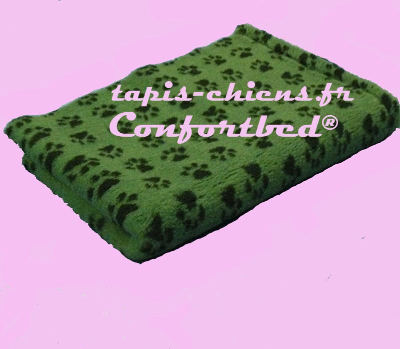 tapis pour chiens vert-fonce pattes noires