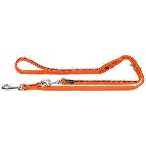 laisse réglable hunter Power Grip, orange