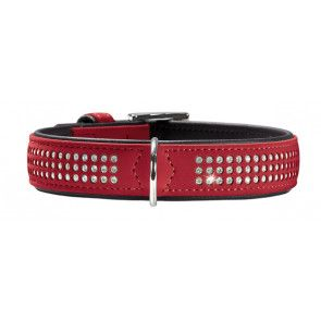 collier en cuir Hunter Softie Triluxe rouge