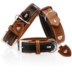 collier cuir de luxe hunter tara pour chien
