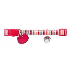 collier rouge pour chat avec clochette Hunter Glossy Stripes