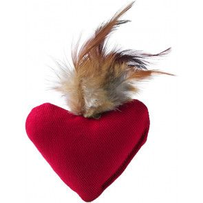 Jouet peluche chaton ou chat , coeur Hunter smart feather