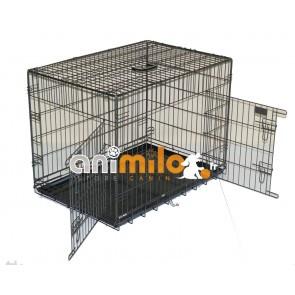 Cage metal noir bac plastique T2