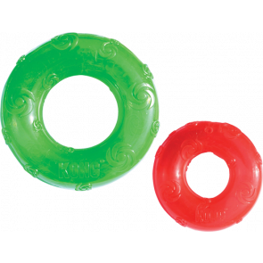 jouet kong squeezz ring pour chien