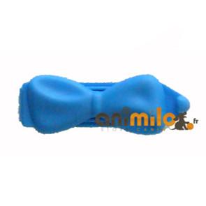 barrette noeud bleu clair