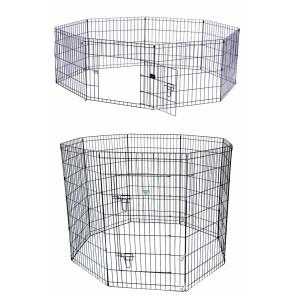 parc enclos pliable 8 panneaux pour chien