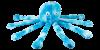 jouet d'éveil peluche pieuvre multi couineurs octopus pour chien