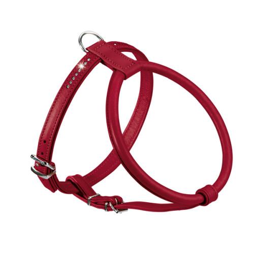Karlie Art Leather Plus Harnais Rouge Mont/é Carlo 11 Mm X 21-27 Cm