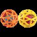 Balle cage caoutchouc et crécelle , Animilo Extreme Gigler
