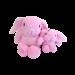 jouet Hugs Rabbit lapin rose pour chien