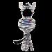 jouet Kong Wubba No Stuff Large zebre