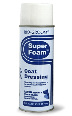 conditionneur pour brushing bio groom super foam coat dressing