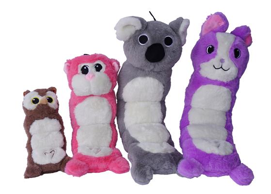 jouet peluche tums multi couineur pour chien