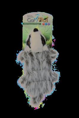 jouet peluche blaireau 30 cm multi couineur pour chien